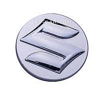 Колпачки заглушки для литых дисков Suzuki серый + хром 59мм
