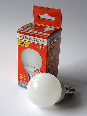 Светодиодная лампа LED 4W 4000K E14 ELECTRUM LB-5 (A-LB-1808), фото 2