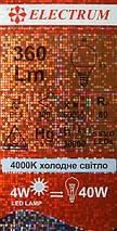 Светодиодная лампа LED 4W 4000K E14 ELECTRUM LB-5 (A-LB-1808), фото 3