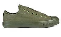 Кеды мужские Converse Chuck Taylor All Star Low Mono Green в зеленом цвете низкие