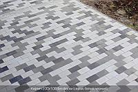 Кирпич (200х100) без фаски 60мм - цвет на белом цементе