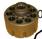 Блок поршневой (цилиндров) гидравлического мотора хода на Caterpillar 318B, 318D, 318E 134-7134, 1347134