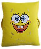 Бескаркасная мебель Пуф детский Спанч Боб кресло мешок, фото 2
