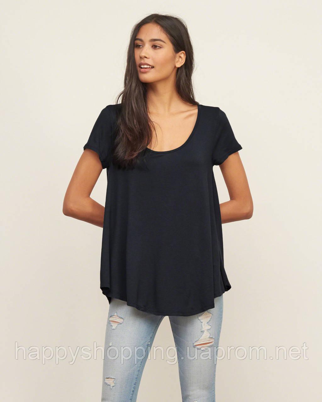 Темно-синяя футболка Abercrombie&Fitch