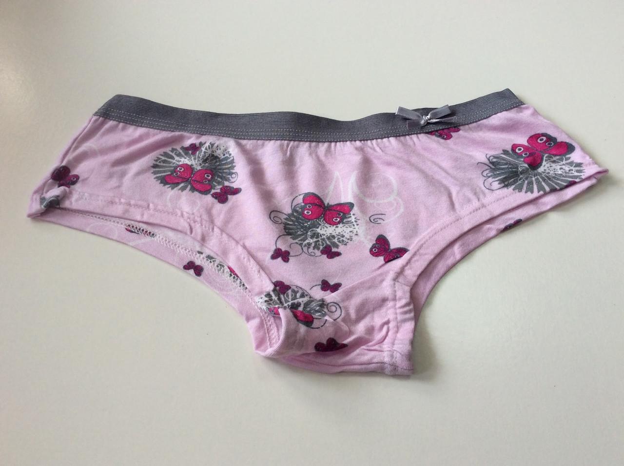 Трусики розовые с бабочкой