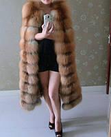 """Жилет меховой """"Лзиана"""" из лисы длинная модель"""