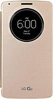 Чехол-Книжка LG G3 Quick Circle CCF-345G Gold, фото 1