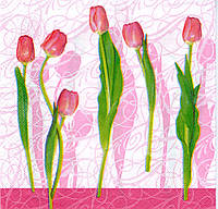 Салфетка для декупажа,  Тюльпаны