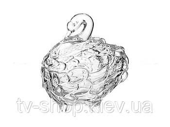 Конфетница с крышкой Лебедь  ,19 см