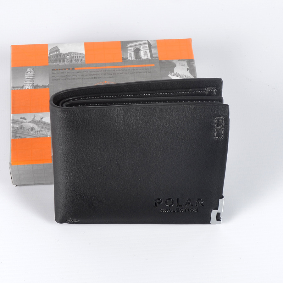 Невеличкий чоловічий шкіряний  гаманець   Polar