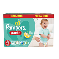 Подгузники - трусики Pampers Pants Maxi 4 (9 -14 кг) MEGA BOX 104 шт (Унисекс)