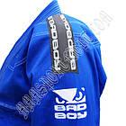 Кимоно детское для Бразильского Джиу Джитсу BAD BOY Синее, фото 3