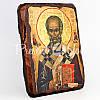 Деревянная икона Святой Николай Чудотворец, 17х13 см., фото 2