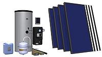Пакетное эконом-предложение гелиосистем Hewalex с плоскими коллекторами и бойлером 400 литров