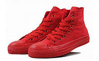 Детские кеды Converse Chuck Taylor All Star Hgh Mono Red (конверсы )