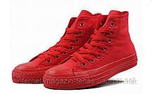 Детские кеды Converse Chuck Taylor All Star Hgh Mono Red (конверсы )