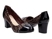 Женские классические туфли лодочки на каблуке 5 см.