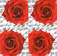 Салфетка для декупажа,  Роза, 21х21см