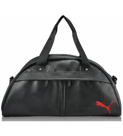 4530273f Спортивная сумка Puma Bogen черная с красным реплика - Интернет магазин