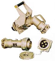 Силовой промышленный разъем 320 А 370 А ампер вилка кабельная + розетка на корпус цена купить