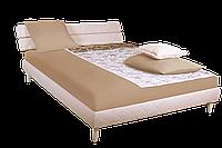 Кровать 1,6х2 Бизе, ткань Сидней 11, ножки буковые трапеция