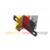 12F30, Выключатель ползунковый малый, 3 Pin  штыревых, п/винт, Ρычаг 7мм, п/винт