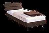 Кровать 80х200 Бизе, ткань Фортуна 46, ножки буковые конус венге