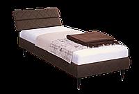Кровать 0,8х2 Бизе, ткань Фортуна 46, ножки буковые конус венге