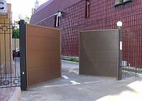 Ворота распашные из сэндвич-панелей