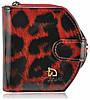 Женский кожаный кошелек 001B-2 леопард красный, фото 2