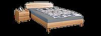 Кровать 1,6х2 Кэнди (МДФ),бук, ножки буковые конус бук