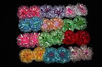 """Банты для волос """"Мультики"""", диаметр: 7 см, ассорти, 24 штуки в упаковке"""