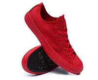 Детские кеды Converse Chuck Taylor All Star Low Mono Red (конверсы )
