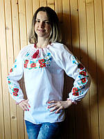Вышитая женская блузка (013)