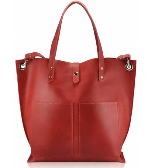 Женская кожаная сумка Cowboy красная