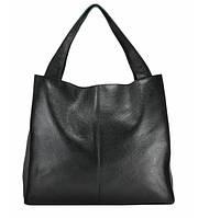 Женская кожаная сумка Mesho черная