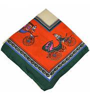 Платок Hermes 415 оранжевый