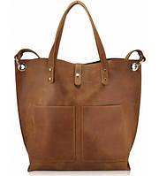 Женская кожаная сумка Cowboy рыжая