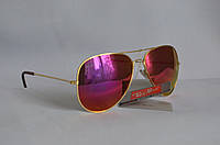 Солнцезащитные очки унисекс Ray Ban Aviator розовый, фото 1
