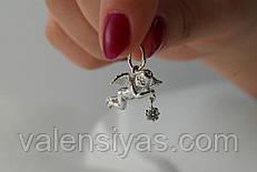 Кулон серебряный - Ангелочек счастья
