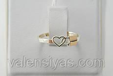 Серебряное кольцо замочек