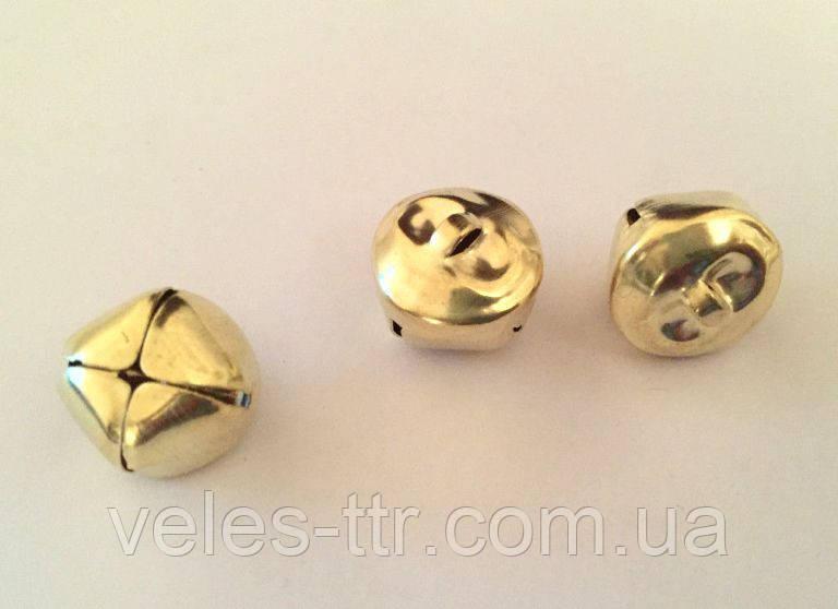 Бубенчик декоративный золото 16 мм