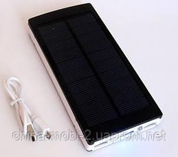 Power bank solar 25000 mAh black + зарядка от солнечной батареи  , фото 3