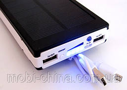 Power bank solar 25000 mAh black + зарядка от солнечной батареи  , фото 2