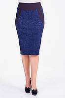 Женская прямая юбка из костюмной стрейчевой ткани
