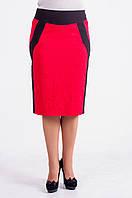 Яркая юбка большого размера с контрастными вставками