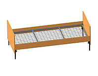 Кровать одноместная для общежитий (ДСП сварная сетка)