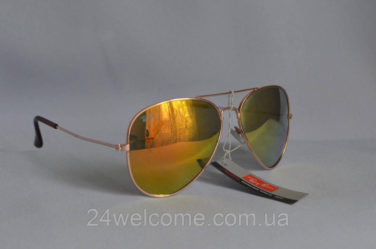 3ab42e13fd8f Солнцезащитные очки унисекс Ray Ban Aviator Хамелеон желтый - Интернет  магазин WELCOME в Харькове
