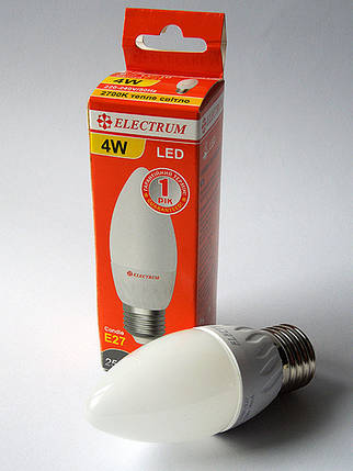 Светодиодная лампа LED 4W 2700K E27 ELECTRUM LC-10 (A-LC-0527), фото 2