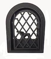 Чугунная дверка для печи со стеклом- VVK 35х47см/27 х 38см , фото 1